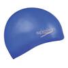 speedo Plain Moulded Silicone Cap Neon Blue